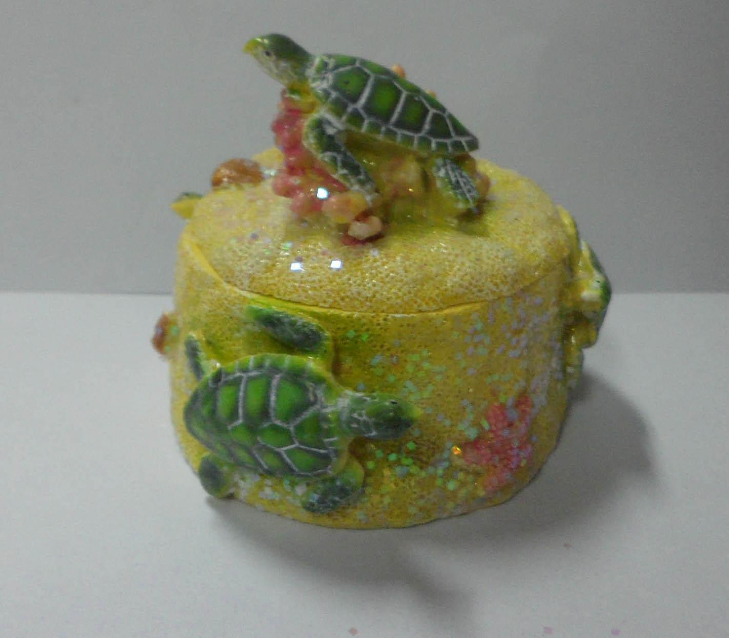 Box with Sea Turtle Decor