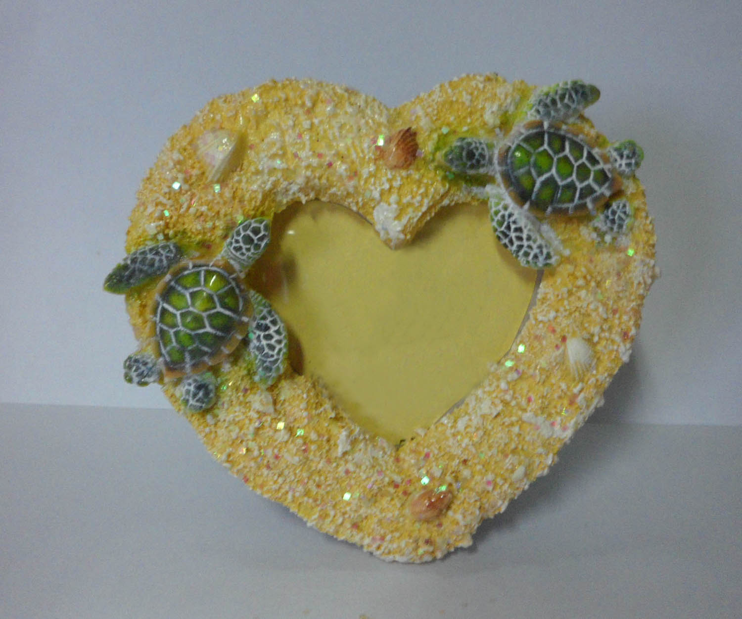 Photo Frame Heart Shaped with Sea Turtles
