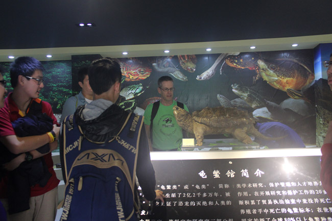 Touring Turtle Museum at Hainan Normal University
